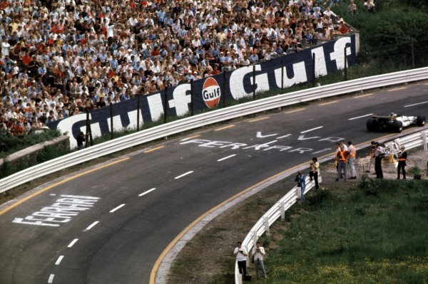 1970 Belgian Grand Prix.Spa-Francorchamps, Belgium.5-7 June 1970.Pedro Rodriguez (BRM P153) 1st position.Ref-70 BEL 18.World Copyright - LAT Photographic