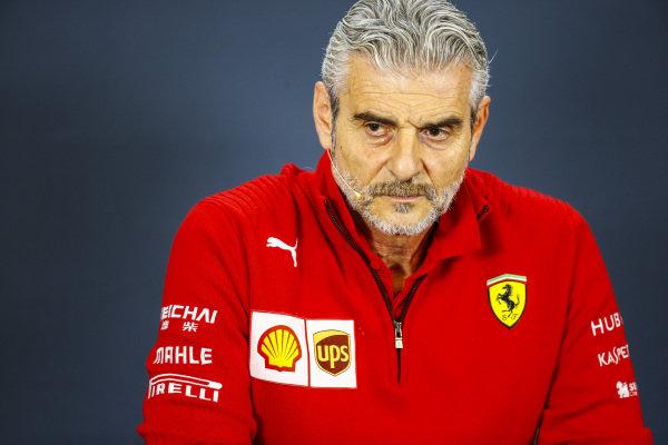 Maurizio Arrivabene, Team Principal, Ferrari, in the team principals Press Conference