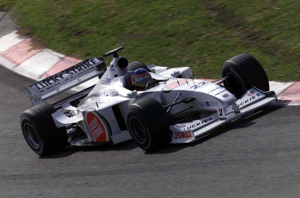 2000 Spanish Grand Prix.Catalunya, Barcelona, Spain.5-7 May 2000.Jacques Villeneuve (B.A R. 002 Honda).World Copyright - LAT Photographic