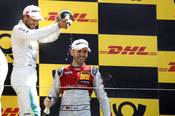 Podium: Race winner René Rast, Audi Sport Team Rosberg, second place Gary Paffett, Mercedes-AMG Team HWA.