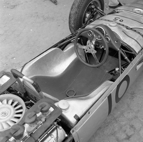 The cockpit of Dan Gurney's Porsche 804.