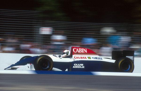 1993 Australian Grand Prix.Adelaide, Australia.5-7 November 1993.Andrea de Cesaris (Tyrrell 021 Yamaha) 13th positionRef-93 AUS 41.World Copyright - LAT Photographic