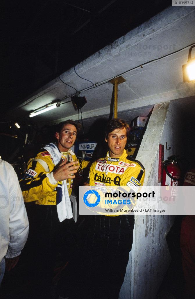 Johnny Dumfries and Roberto Ravaglia, Toyota Team TOM's.