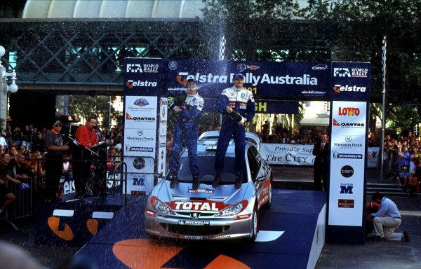 2001 World Rally ChampionshipRally Australia, WRC. 1st - 4th NovemberMarcus Gronholm.World Copyright - McKlein / LAT PhotographicRef: 35mm Image A09