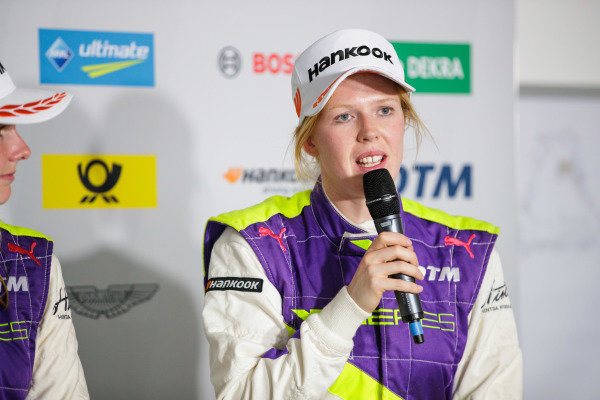 Alice Powell (GBR) in the press conference