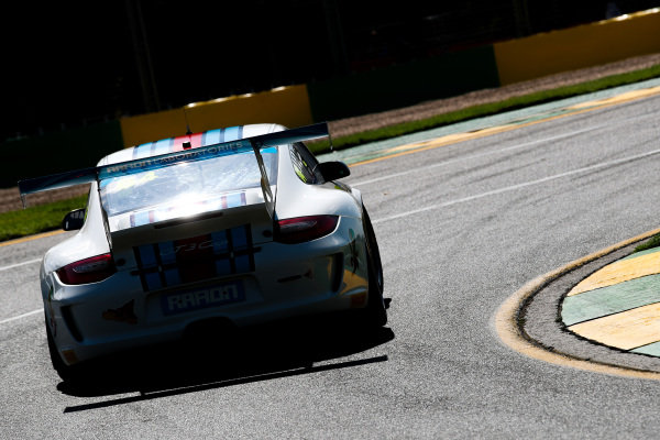 Porsche sportscar on track