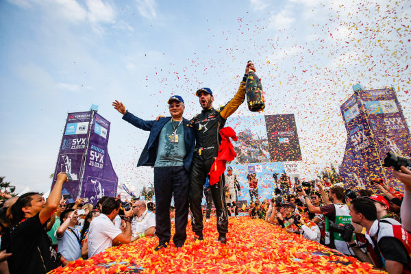 Jean-Eric Vergne (FRA), DS TECHEETAH, celebrates victory