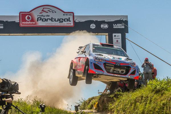 Dani Sordo (ESP) / Marc Marti (ESP) Hyundai i20 WRC at World Rally Championship, Rd5, Rally Portugal, Day Three, Matosinhos, Portugal, 24 May 2015.