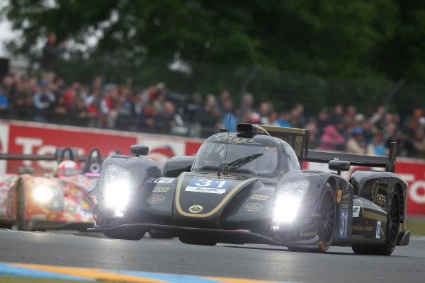 Circuit de La Sarthe, Le Mans, France. 21st June 2013. Kevin Weeda/James Rossiter/Christophe Bouchut, Lotus LMP2, No.31 Lotus-Praga T128.  World Copyright: Alastair Staley/  ref: Digital Image _R6T4030