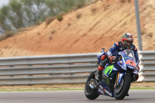 2017 MotoGP Championship - Round 14 Aragon, Spain. Friday 22 September 2017 Maverick Viñales, Yamaha Factory Racing World Copyright: Gold and Goose / LAT Images ref: Digital Image 693805