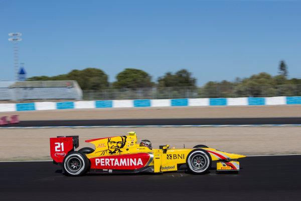 2017 FIA Formula 2 Round 10. Circuito de Jerez, Jerez, Spain. Friday 6 October 2017. Sean Gelael (INA, Pertamina Arden).  Photo: Andrew Ferraro/FIA Formula 2. ref: Digital Image _FER9901