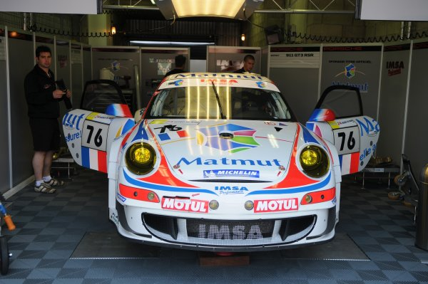2008 Le Mans 24 Hours, Le Mans, France9th-15th JuneTeam ISMA Porsche 911 GT3 RSR in garage.Worldwide copyright: Dave Friedman/LAT PhotographicRef; Digital Image Only