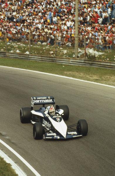 Monza, Italy.9-11 September 1983.Nelson Piquet (Brabham BT52B BMW) 1st position.Ref-83 ITA 14.World Copyright - LAT Photographic