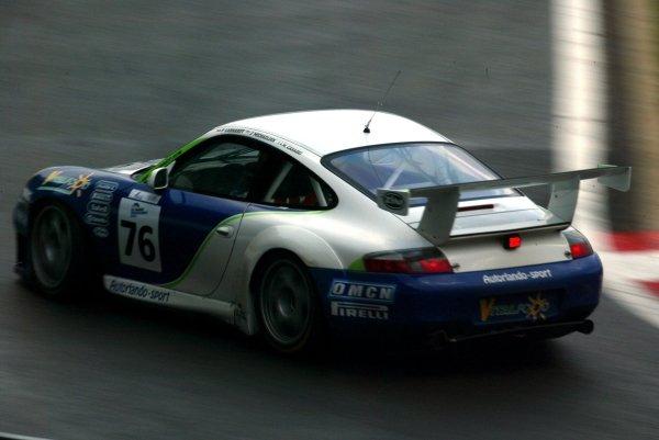 Francois Labhardt (FRA) / Jim Michaelian / Mauro Casadei (ITA) Autorlando Sport Porsche 911 GT3-RS.Le Mans Endurance Series Rd4, Spa 1000km, Spa-Francorchamps, Belgium. 11/12/13 September 2004.Digital Image