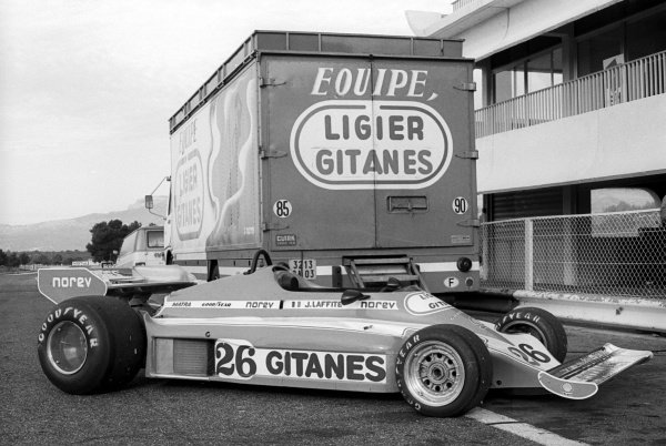 Ligier unveil their 1977 car, the Ligier JS7.