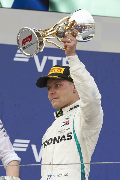 Valtteri Bottas, Mercedes AMG F1, celebrate on the podium