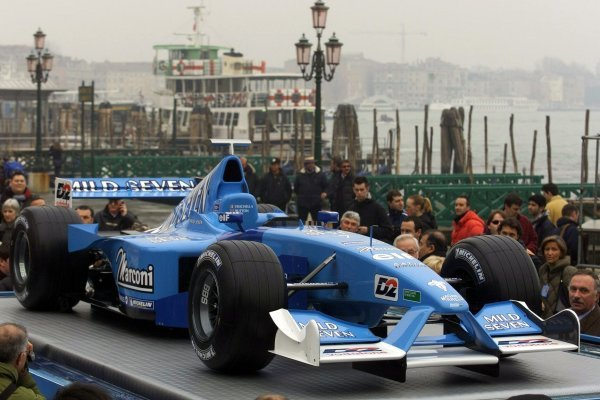 The Mild Seven Benetton Renault Sport B201 Launch.St Marks Square, Venice, Italy 6 February 2001This is a 5.7mb digital file