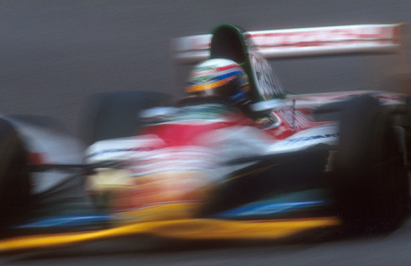1993 Belgian Grand Prix.Spa-Francorchamps, Belgium.27-29 August 1993.Alessandro Zanardi (Lotus 107B Ford). He did not take part in the race after he had a huge accident at Eau Rouge on Friday morning.Ref-93 BEL 05.World Copyright - LAT Photographic