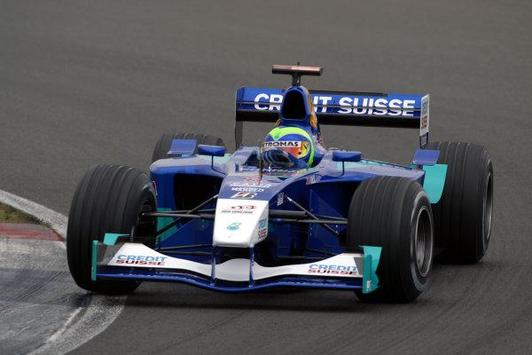 2002 Formula One TestingSilverstone, England. 17th September 2002.Felipe Massa, Sauber Petronas C21, action.World Copyright: Malcolm Griffiths/LAT Photographicref: Digital Image Only