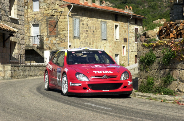 2001 World Rally Championship.Rallye de France, Ajaccio, Corsica, October 19-21.Jesus Puras on stage 3.Photo: Ralph Hardwick/LAT