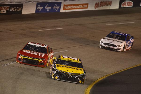 #20: Christopher Bell, Joe Gibbs Racing, Toyota Camry DEWALT Salute First Responders; #99: Daniel Suarez, TrackHouse Racing, Chevrolet Camaro Good Sam