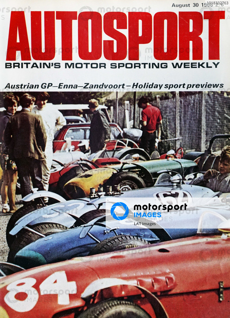 Cover of Autosport magazine, 30th August 1968