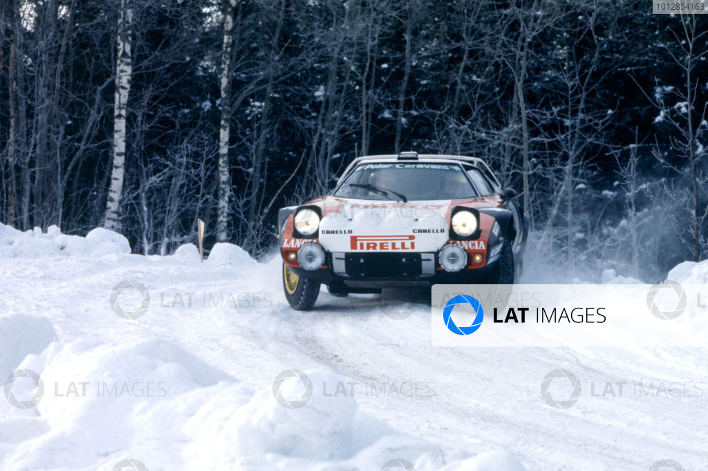 1978 World Rally Championship. Swedish Rally, Sweden. 10-12 February 1978. Stig Blomquist in the Stratos. Action. World Copyright:LAT PhotographicRef:35mm Image.