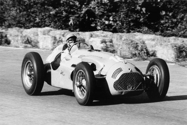 1951 Italian Grand Prix.Monza, Italy. 16 September 1951.Louis Rosier (Lago-Talbot T26C-DA). Ref-51/50 #17.World Copyright - LAT Photographic