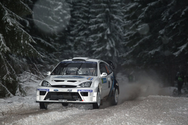 2005 FIA World Rally Champs. Round two Swedish Rally.10th-13th February 2005. Antony Warmbold, Ford, action.World Copyright: McKlein/LAT