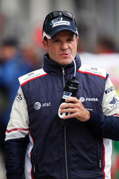 Rubens Barrichello (BRA) Williams. Formula One World Championship, Rd 10, German Grand Prix, Qualifying Day, Nurburgring, Germany, Saturday 23 July 2011.