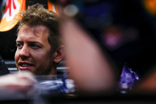 Circuit de Catalunya, Barcelona, Spain. Thursday 8 May 2014. Sebastian Vettel, Red Bull Racing. World Copyright: Andy Hone/LAT Photographic. ref: Digital Image _ONY7704