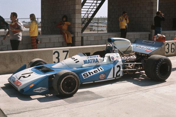 1971 United States Grand Prix.  Watkins Glen, New York, USA. 1st-3rd October 1971.  Jean-Pierre Beltoise's Matra MS120B in the pits.  Ref: 71USA37. World Copyright: LAT Photographic