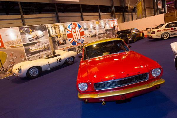 Autosport International Exhibition. National Exhibition Centre, Birmingham, UK. Thursday 8 January 2015. Ford Mustang on the Motorsport News stand. World Copyright: LAT Photographic. ref: Digital Image EL0G1869