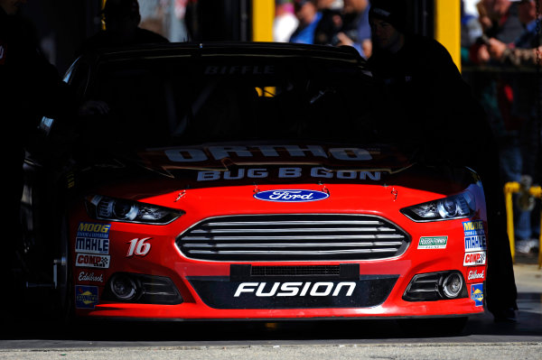 14-21 February, 2015, Daytona Beach, Florida USA The car of Greg Biffle is rolled from tech inspection. ?2015, F. Peirce Williams LAT Photo USA