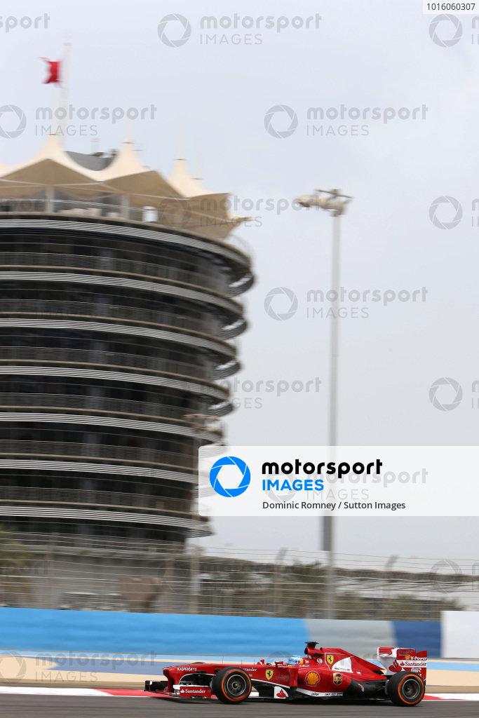 Fernando Alonso (ESP) Ferrari F138. Formula One World Championship, Rd4, Bahrain Grand Prix, Practice, Bahrain International Circuit, Sakhir, Bahrain, Friday 19 April 2013.