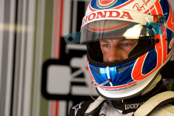 2005 European Grand Prix - Friday Practice Nurburgring, Germany 27th May 2005Jenson Button, BAR Honda 007, portrait World Copyright: Steven Tee/LAT Photographic ref:Digital Image Only 48mb file.