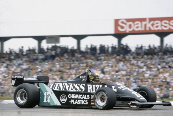 1981 German Grand Prix.Hockenheim, Germany. 31 July-2 August 1981.Derek Daly (March 811-Ford Cosworth), retired.World Copyright: LAT PhotographicRef: 35mm transparency 81GER13