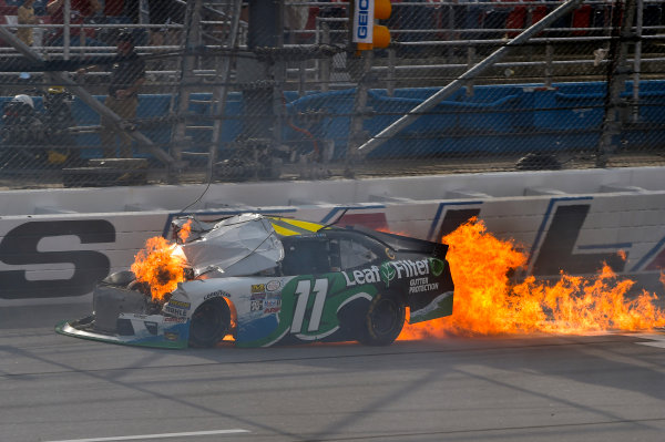 29-30 April 2016, Talladega, Alabama USA Blake Koch wrecks ? 2016, Nigel Kinrade LAT Photo USA