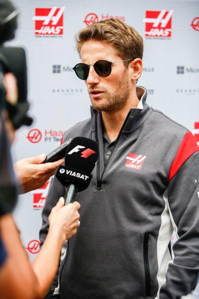 Interlagos, Sao Paulo, Brazil. Thursday 09 November 2017. Romain Grosjean, Haas F1. World Copyright: Andy Hone/LAT Images  ref: Digital Image _ONY7388