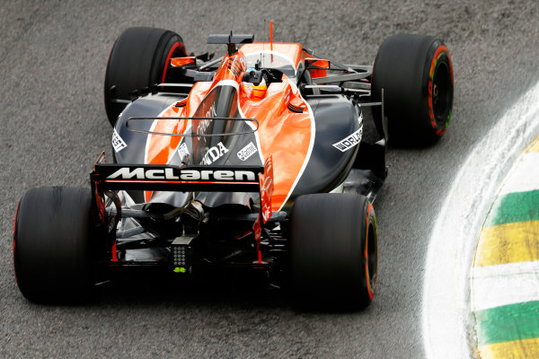 Interlagos, Sao Paulo, Brazil. Friday 10 November 2017. Fernando Alonso, McLaren MCL32 Honda. World Copyright: Glenn Dunbar/LAT Images  ref: Digital Image _31I9949