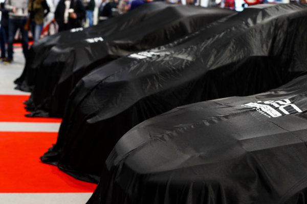 Autosport International Exhibition. National Exhibition Centre, Birmingham, UK. Thursday 11th January 2017. WRC cars under covers.World Copyright: Ashleigh Hartwell/LAT Images Ref: _O3I7635