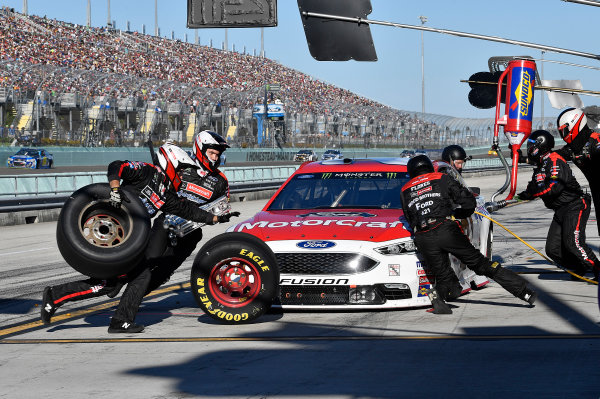 Monster Energy NASCAR Cup Series Ford EcoBoost 400 Homestead-Miami Speedway, Homestead, FL USA Sunday 19 November 2017 Ryan Blaney, Wood Brothers Racing, Motorcraft/Quick Lane Tire & Auto Center Ford Fusion World Copyright: Rusty Jarrett LAT Images