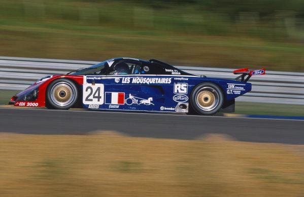 1993 Le Mans 24 Hours. Le Mans, France. 19th - 20th June 1993. Jean-Bernard Bouvet/Richard Balandras/Bruno Miot (Spice SE89C), 20th position, action. World Copyright: LAT Photographic. Ref:  93LM30