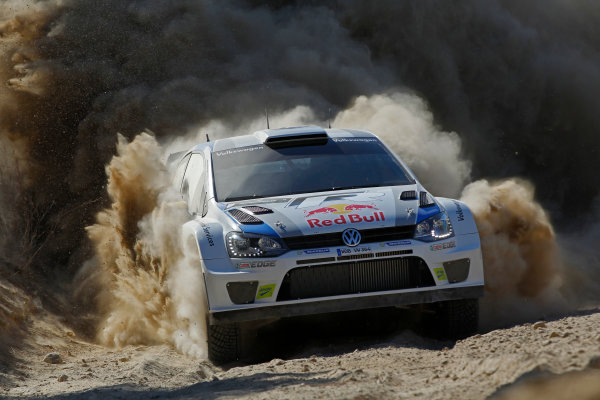 2013 FIA World Rally Championship Round 06-Acropolis rally of Greece 31/5-2/6-2013. Andreas Mikkelsen, VW WRC, Action. Worldwide Copyright: McKlein/LAT
