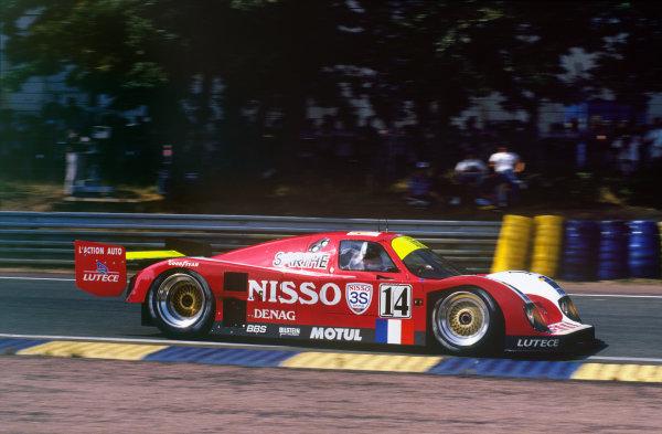 Le Mans, France. 19th - 20th June 1993.Derek Bell/Lionel Robert/Pascal Fabre (Courage C30LM Porsche), 10th position, action. World Copyright: LAT Photographic.Ref:  93LM19.