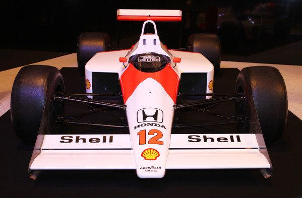 NEC, Birmingham. 12th - 15th January 2012. Ayrton Senna tribute. 1988 McLaren MP4/4 Honda. World Copyright: Kevin Wood/LAT Photographic ref: Digital Image IMG_9571a