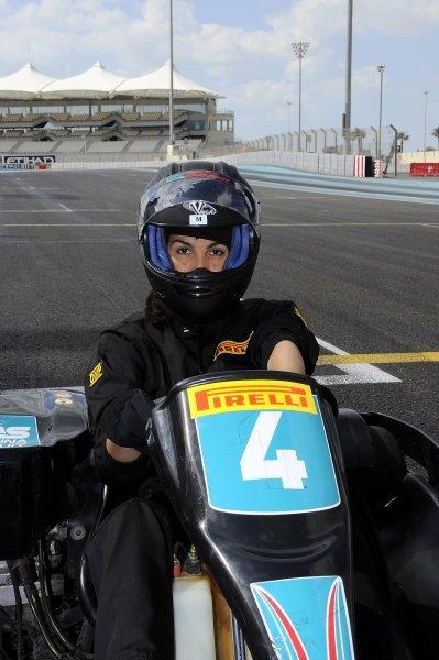 Ines Sastre (ESP), Pirelli calendar model.Pirelli 2012 Pre-Season Launch, Yas Marina Circuit, Abu Dhabi, Wednesday 25 January 2012.