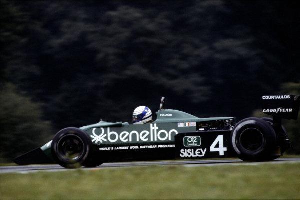1983 Austrian Grand Prix  Osterreichring, Austria. 12-14 August 1983.  Danny Sullivan, Tyrrell 011 Ford, retired.  Ref: 83AUT03. World Copyright - LAT Photographic
