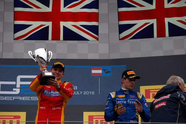 2016 GP2 Series Round 4 Red Bull Ring, Spielberg, Austria. Sunday 3 July 2016. Jordan King (GBR, Racing Engineering)  Photo: Sam Bloxham/GP2 Series Media Service. ref: Digital Image _SLA9939