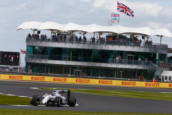 Silverstone, Northamptonshire, UK Friday 8 July 2016. Valtteri Bottas, Williams FW38 Mercedes. World Copyright: Hone/LAT Photographic ref: Digital Image _ONZ9624